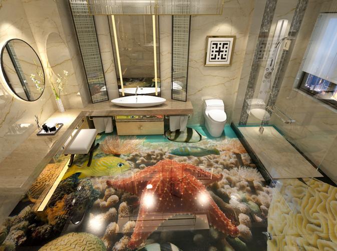 3D The Seabed Fish 7 Floor WallPaper Murals Wall Print Decal 5D AU Lemon