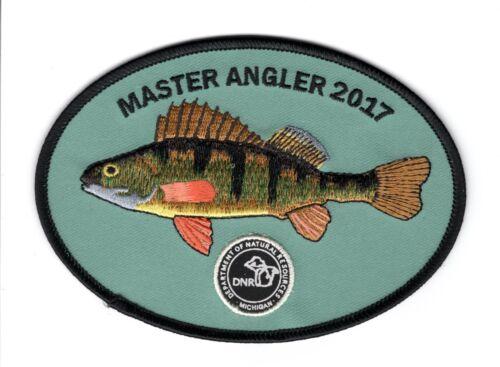2017 MICHIGAN DNR MASTER ANGLER FISH PATCH-DEER-BEAR-TURKEY-MOOSE-ELK