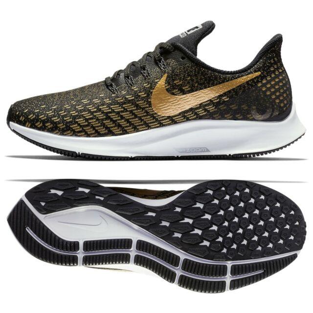 Nike WMNS Air Zoom Pegasus 35 BlackMetallic Gold 942855 007 Women Running Shoes