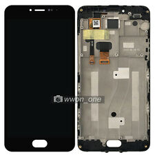 Black Meizu Meilan Note 3 M681 M3 Note LCD Screen Touch Digitizer Assembly Frame