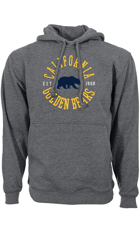 College Hoody California CAL Golden Bears CIRCULAR hooded Sweater NCAA Levelwear