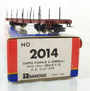 VINTAGE-RIVAROSSI-2014-HO-TRAINS-ITALIAN-FS-LIVERY-FLAT-CAR-IN-EXCELLENT-BOX