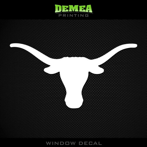 "White Vinyl Sticker Decal 5/"" NCAA Longhorns Texas Icon"