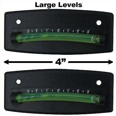 2 pack camco RV steel ball levels graduated camper trailer pair curved 25553