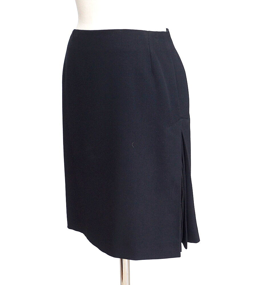 JEAN PAUL GAULTIER skirt side pleat working zipper 42 fits 6 mint