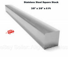 Square Stock 304 Stainless Steel 38 X 38 X 72 Solid Square 6 Ft Long Bar