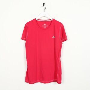 Vintage-Women-039-s-Adidas-Petit-Logo-Sports-T-Shirt-Tee-rose-Large-L