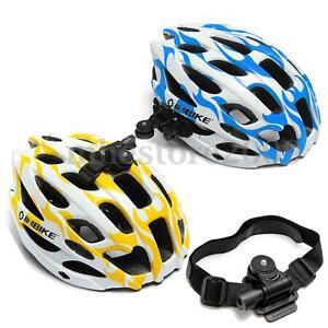 Bike Helmet Head Vented Mount Strap Holder for Hero 1 2 3 Sports Camera