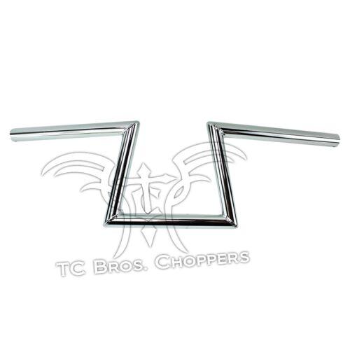 """Tc Bros 1/"""" Slant Z Guidão Cromado enrugada Sportster Dyna Chopper Bobber Barras"""