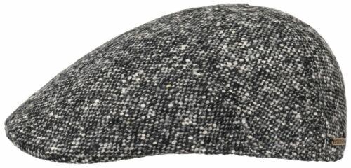 STETSON FLATCAP KAPPE MÜTZE IVY CAP DONEGAL SCHWARZ GRAU 433 SCHURWOLLE TREND