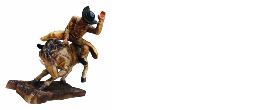 Design Cowboy Rodeo Pferd Figur Statue Skulptur Figuren Skulpturen Deko 5641