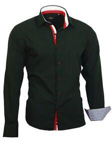 Binder-de-Luxe-Herren-Hemd-Shirt-Kentkragen-Herrenhemd-Langarm-82702-SCHWARZ