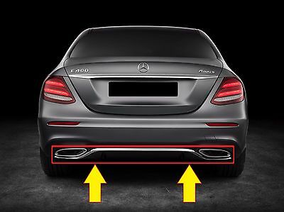 NUOVO Originale Mercedes Benz MB CLA Classe W117 AMG Paraurti Posteriore Diffusore Nero