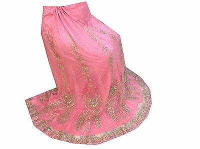 Wedding Dresses Selfless Om New Vintage Indian Wedding Hand Beaded Pink Lehenga,blouse Unstitched Lp81 Pretty And Colorful Antiques