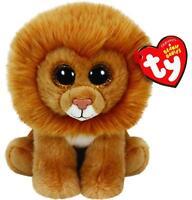 Ty Beanie Baby Louie - Lion Glitter Eye Plush 6 In Hand Small