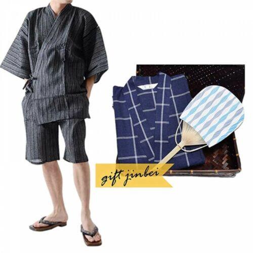 Details about  /Japanese Jinbei Two Piece Summer Clothing Fan BambooBasket Set 02 Japan Tracking