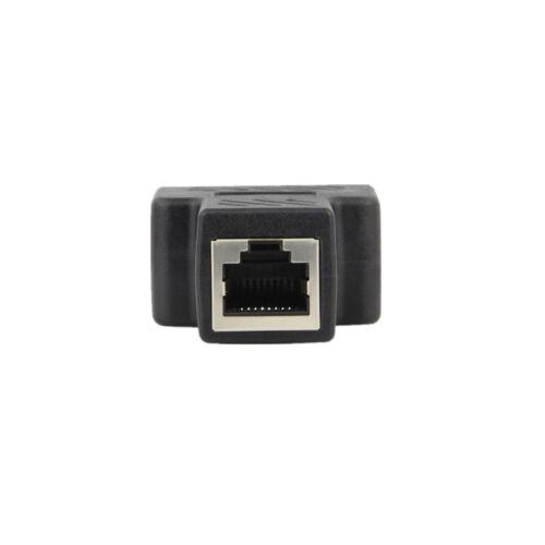 RJ45 CAT5 6 Ethernet cable LAN Port 1 to 2 Socket Splitter Connector AdapterCYN