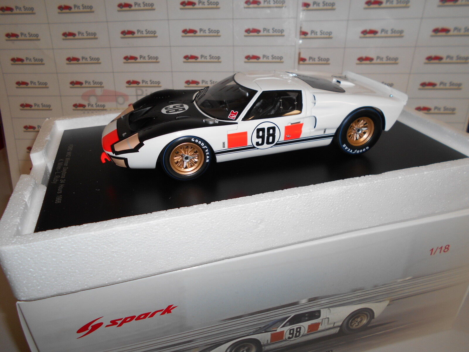 SPA18DA66 by SPARKMODEL  FORD MK2 98 24H WINNER DAYTONA 1966 1:18