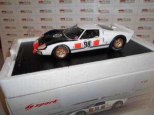 Spa18da66 Par Sparkmodel Ford Mk2 # 98 Gagnant de 24h à Daytona 1966 1:18