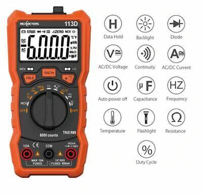 Test, Measurement & Inspection Digital Multimeter 6000 Counts NCV ...