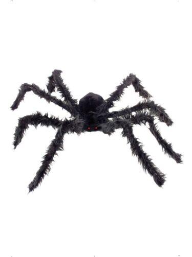 RAGNO gigante Peloso Con Illuminare Occhi 102 cm Halloween Prop accessorio