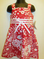 Girls Bonnie Jean Red White Floral Emma Summer Dress Sz 2t Outfit