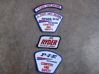 Ryder PIE trucking truck trucker driver driving Patch LOT