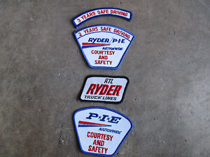 Ryder-PIE-trucking-truck-trucker-driver-driving-Patch-LOT