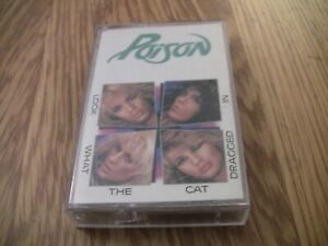 Poison-034-Look-What-The-Cat-Dragged-034-In-Cassette-Album-1986-with-Talk-Dirty-to-me