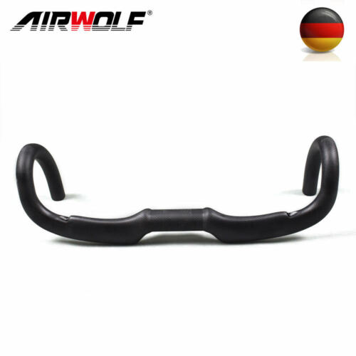 Airwolf Kohlefaser Rennlenker 3K matt glänzend Fahrrad Lenker 400//420//440mm