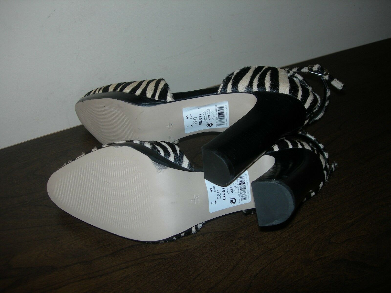 NEXT SIGNATURE WOMEN'S COURT Schuhe HEELS EU ANIMAL PRINT PONY HAIR EU HEELS 41 / UK 7 c0eaa6