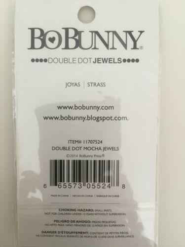 Bo Bunny Double Dot Jewels 86 Pack Mocha NEW
