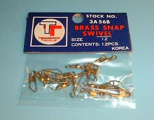 120 Brass Snap Swivels Tennessee Tackle Size 12 - 10 Packs of 12
