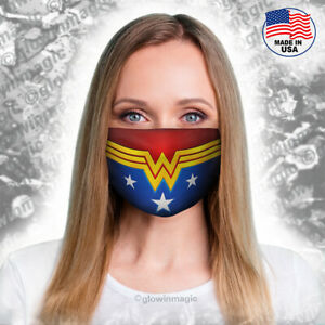 Wonder-Woman-adult-face-mask-Superhero-cosplay-Washable-amp-Reusable-free-shipp