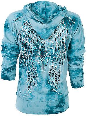 Sinful AFFLICTION Women Hoodie Sweat Shirt Jacket BLITZKRIEG Wings Biker UFC $74