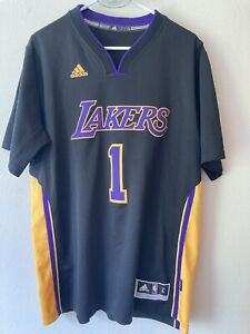 Details about D'Angelo Russell LA Lakers Hollywood Nights Adidas Swingman Sleeved Jersey Large