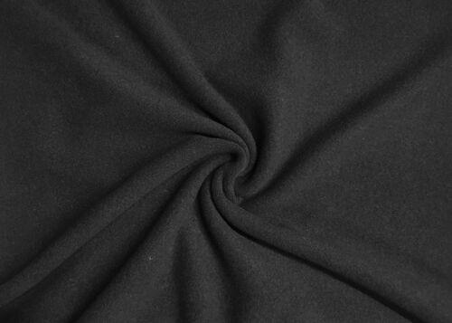 Mantelstoff Wollmischung Stoff Wolle Schwarz Uni Flausch Decke Deko Bekleidung