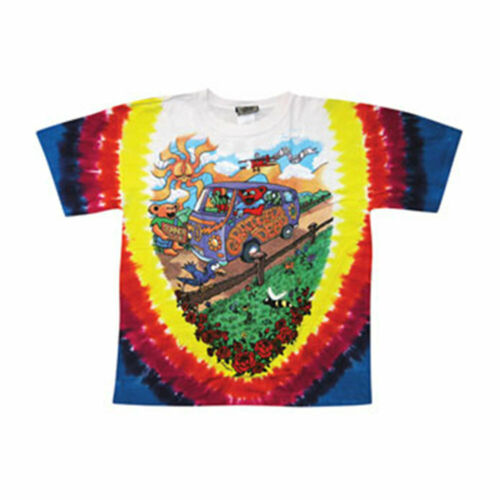 Grateful Dead Men/'s  Summer Tour Bus Tie Dye T-shirt Multi