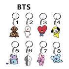 Hot Sale BTS BT21 Bangtan Boys Cute Key Chain TATA COOKY RJ SHOOKY Keyring Fan