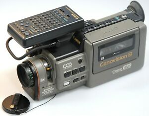 Canon-E70-canovision8-Video8-Tape-CCD-Movie-Camcorder-CG-E1-Title-Generator