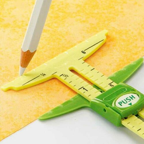 NEW 5-In-1 Sliding Gauge Measuring Sewing Tools with Circle Compass Tool 6L