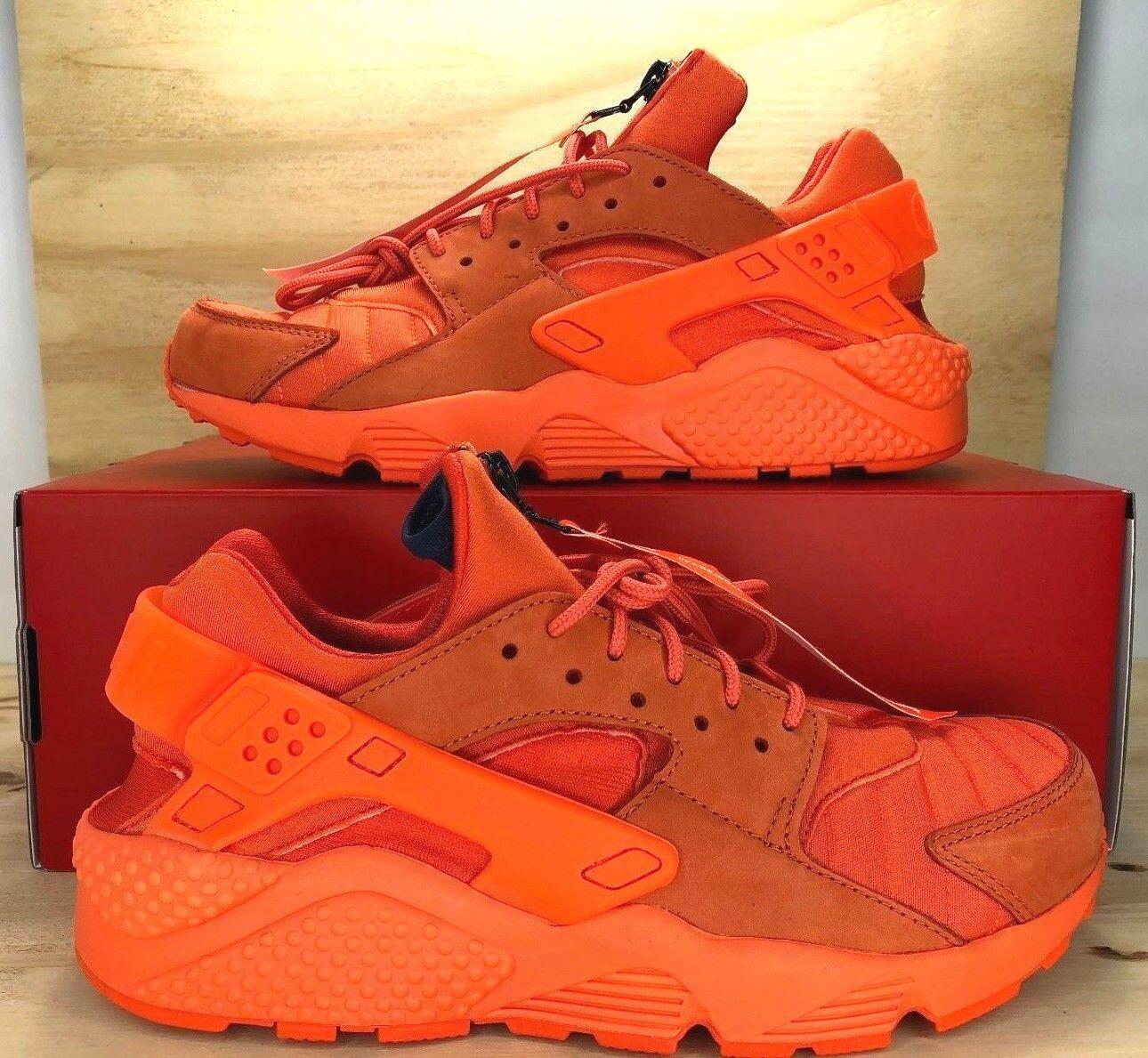 NIKE AIR HUARACHE QS CHICAGO Orange Blaze Sneaker AJ5578-800 Men's Shoes SZ 10.5