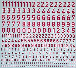 Brillant Chiffres Numbers Magenta 1:32 Décalque Décalcomanies-afficher Le Titre D'origine