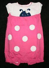 New Gymboree Sweet Ladybug Bubble Romper 12-18m Pink Ladybugs Brand New Baby