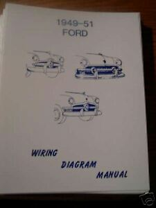 1949 1950 1951 Ford Wiring Diagram Manual | eBay