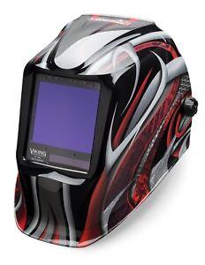 Lincoln Electric Viking 3350 Twisted Metal Auto Darkening Welding Helmet K3248 3 Ebay