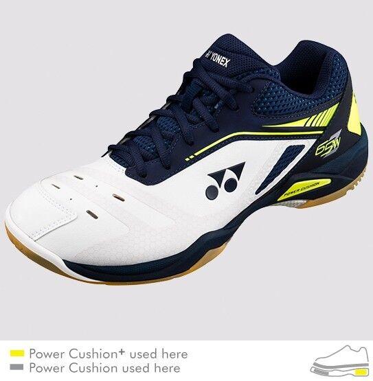 Yonex Badminton/Squash Indoor SHB65Z Shoes, W Wide Shoes, SHB65Z Power Cushion+, Dark Navy/Wht ae1dfe