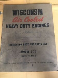 Wisconsin-Air-Cooled-Heavy-Duty-Engine-Manual-S-7D-Instruction-Parts-Book-List