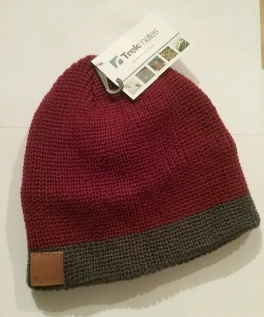 696a7a63c06 Trekmates Cooper Chunky Beanie Hat Red grey