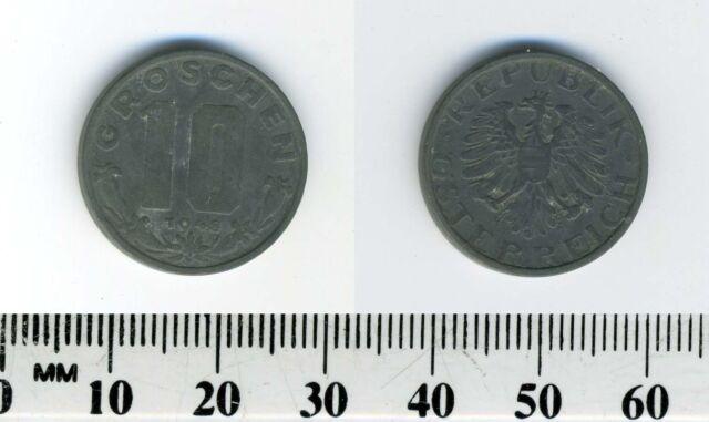 Austria 1948 - 10 Groschen Zinc Coin - Imperial Eagle with Austrian shield